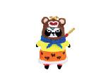 限量版梳打熊貓角色扮演 十二生肖系列公仔(猴)