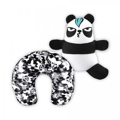 梳打熊貓可變頸枕